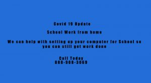Image of Covid 19 school work from home 300x166